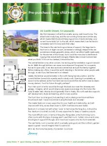 Feng shui pre-purchase report - sample